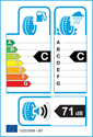 etichetta europea dei pneumatici per Achilles winter 101x 205 55 16