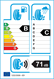 etichetta europea dei pneumatici per Apollo Alnac 4G All Season 215 60 17 100 H 3PMSF M+S XL