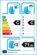 etichetta europea dei pneumatici per APTANY Rc501 185 55 15 86 H 3PMSF M+S XL