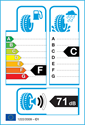 etichetta europea dei pneumatici per Barum POLARIS 3 205 55 16