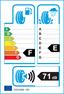 etichetta europea dei pneumatici per Bridgestone B371 165 60 14 75 H