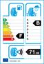 etichetta europea dei pneumatici per Bridgestone Blizzak Lm-25 185 55 16 87 T XL