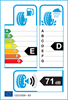 etichetta europea dei pneumatici per Bridgestone Blizzak Lm32 225 60 16 98 H 3PMSF AO M+S