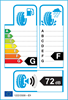 etichetta europea dei pneumatici per Bridgestone Blizzak Ws 80 225 40 18 92 H M+S