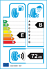 etichetta europea dei pneumatici per Bridgestone Driveguard 225 40 18 92 V XL