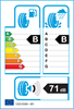 etichetta europea dei pneumatici per Bridgestone Duravis R660 215 70 15 109 S 8PR C