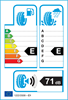 etichetta europea dei pneumatici per Bridgestone Noranza 001 225 55 17 101 T 3PMSF XL