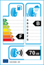 etichetta europea dei pneumatici per Bridgestone Potenza Re050a 245 45 18 96 W KZ