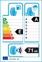 etichetta europea dei pneumatici per Bridgestone POTENZA S001 225 45 17