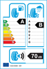 etichetta europea dei pneumatici per Bridgestone T005 245 45 18 100 Y BMW
