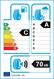 etichetta europea dei pneumatici per Bridgestone Weather Control A005 185 55 15 86 H XL