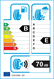 etichetta europea dei pneumatici per Cheng Shan Csc6 185 60 15 84 H