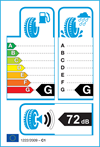 etichetta europea pneumatici continental Allseasoncontact 205 55 16 94 V 3PMSF M+S XL
