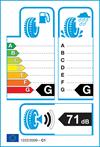 etichetta europea pneumatici Continental Allseason Contact 155 65 14 75 T 3PMSF M+S