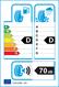 etichetta europea dei pneumatici per Continental Contiecocontact 3 185 65 15 88 T FR MO