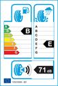 etichetta europea dei pneumatici per Continental VancoFourSeason 225 55 17
