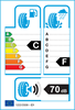 etichetta europea dei pneumatici per Cooper Weathermaster Ice 600 225 60 18 100 T 3PMSF