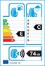 etichetta europea dei pneumatici per cooper Weathermaster Wsc 215 60 17 96 T 3PMSF M+S Studdable