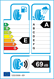 etichetta europea dei pneumatici per Cooper Zeon 4Xs 215 65 16 98 V BSW MFS