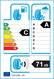 etichetta europea dei pneumatici per Davanti Dx640 245 45 18 100 Y C XL