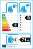 etichetta europea dei pneumatici per Davanti Dx640 205 45 17 88 W B XL