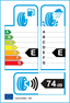 etichetta europea dei pneumatici per Dunlop Grandtrek At3 255 70 17 108 S  M+S XL