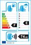etichetta europea dei pneumatici per Dunlop Grandtrek At3 215 70 16 100 T M+S