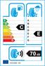 etichetta europea dei pneumatici per dunlop Sp Sport 01 A/S 185 60 15 88 H M+S XL