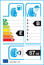 etichetta europea dei pneumatici per Dunlop Sp Sport Maxx 205 55 16 91 W AO AUDI