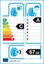 etichetta europea dei pneumatici per Dunlop Sport Bluresponse 195 50 15 82 V C MFS