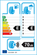 etichetta europea dei pneumatici per Duraturn Mozzo Winter 185 55 15 82 H 3PMSF M+S