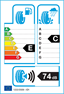 etichetta europea dei pneumatici per effiplus Epluto Ii 225 40 18 92 H 3PMSF M+S XL