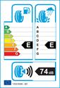 etichetta europea dei pneumatici per Effiplus EPLUTO II 205 50 17