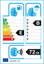 etichetta europea dei pneumatici per Evergreen Eu72 205 40 17 84 W XL