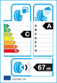 etichetta europea dei pneumatici per falken Azenis Fk453cc 215 50 18 92 W
