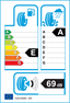 etichetta europea dei pneumatici per Falken Azenis Fk510 235 45 19 99 Y XL