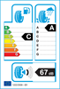 etichetta europea dei pneumatici per falken Ziex Ze310ec 205 55 16 91 V