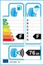 etichetta europea dei pneumatici per Federal Himalaya Ws2 245 45 18 96 T 3PMSF