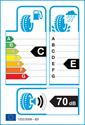 etichetta europea dei pneumatici per Fortuna WINTER 215 55 18