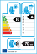 etichetta europea dei pneumatici per Goodyear Efficientgrip Performance 205 55 16 91 V