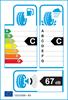 etichetta europea dei pneumatici per Goodyear Efficientgrip Suv 225 55 19 99 V MFS