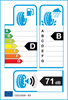 etichetta europea dei pneumatici per Goodyear Efficientgrip Suv 265 70 18 116 H B