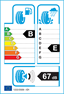 etichetta europea dei pneumatici per Goodyear Efficientgrip 185 55 15 82 H DEMO FP