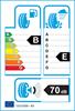 etichetta europea dei pneumatici per Goodyear Efficientgrip 225 75 16 121/120 R