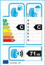 etichetta europea dei pneumatici per hankook Ventus Evo K107 195 40 17 81 W FR XL