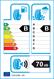 etichetta europea dei pneumatici per Hankook Kinergy 2 K435 195 55 16 87 H