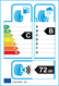 etichetta europea dei pneumatici per Hankook Kinergy 4S 2 X H750a 235 55 18 104 V 3PMSF FR M+S XL