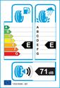etichetta europea dei pneumatici per Hankook RA23 Dynapro HP 215 60 17