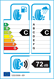 etichetta europea dei pneumatici per Infinity Ecofour 195 55 16 91 H 3PMSF M+S XL