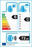 etichetta europea dei pneumatici per keter Kt377 235 55 18 104 V BSW